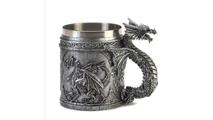 Stainless Steel Dragon Mug