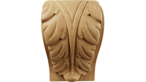 Front Acanthus Leaf Block Cherry Wood Corbel