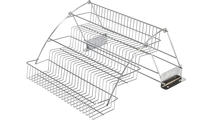 """3-Tier Spice Rack Pulldown for a 18"""" Standard Wall Cabinet in Polished Chrome"""