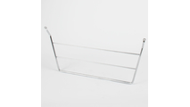 Door Mount 3-Tier Dishcloth Rack in Polished Chrome