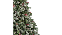 "3-6.5""H Full 56""W Hawthorne Prelit Tree Warm White LED 500"