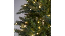 "4-7.5""H Full 55""W Balsam Fir Prelit Tree Warm White LED 750"