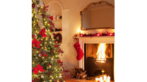 "6-6.5""H Full 54""W Noble Fir Prelit Tree Warm White LED 600"