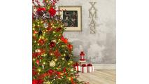 """6-12""""H Full 72""""W Fraser Fir Prelit Christmas Tree Warm White LED 2,000"""
