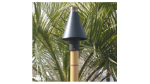 Black Cone automated tiki torch kit (shown with included faux bamboo pole).