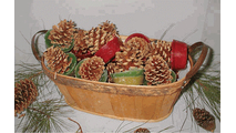 Goods of the Woods Pine Cone Fire Starters in a Wood Tub