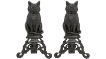 Cat Andirons with Short Shank