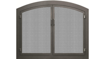 Grande Arched Mesh Masonry Fireplace Door Cascade in Oil Rubbed Bronze