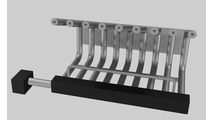 9 Tube Fireplace Grate Heater With Blower For Masonry Fireplaces