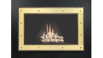 Single Hinged Layered Saratoga Masonry Fireplace Door Newport Brass