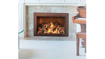Piccolo Fireplace Door Installed In Ancient Age Finish