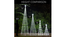 Light Show Tree Size Comparison