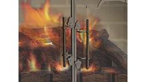 Oak Tree Masonry Fireplace Door Handle Detail