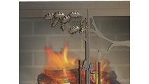 Oak Tree Masonry Fireplace Door Leave Detail