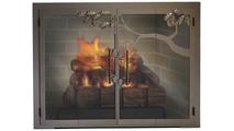 Oak Tree Masonry Fireplace Door - Cast Bronze Finish