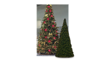 Olympia Pine Tower Full Prelit Commercial Tree