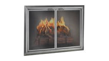 Apex Fireplace Door in Silver 4 Sided No Damper