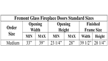Medium Fremont Fireplace Door Sizes