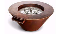 32 Inch Round Mesa Copper Fire and Water Bowl Electronic Ignition 12VAC