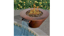 Mesa Fire and Water Bowl with Bronze Fire Glass