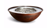 """31"""" Tempe Round Copper Fire Bowl Electronic Ignition 120VAC"""