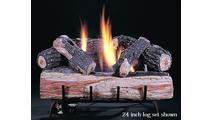Original Chillbuster Single Burner Reduced Depth Ventless Gas Log Set