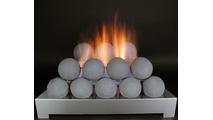 30 inch Alterna FireBalls Ventless Fireplace Gas Set from Rasmussen Gas Logs