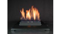 20 Inch ALTERNA FireGlitter Set with Vent Free Black Burner