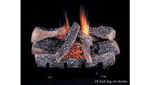 Evening Ember Triple Burner Vent Free Gas Log Set