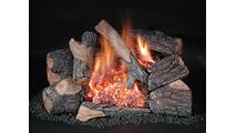Oak Evening Embers Double Burner Vent Free Gas Log Set