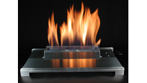 20 Inch ALTERNA FireGlitter Set with Vent Free Stainless Steel Burner