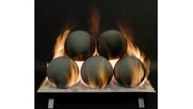 20 inch Alterna FireBalls Ventless Fireplace Gas Set by Rasmussen Gas Logs