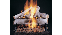 Birch Vented Gas Logs on FX Burner