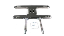 8-1/8 Inch x 19-1/2 Inch Deluxe Stainless Steel Dual H-Burner Kit With V-12 Venturis 8 Inch to 11 Inch