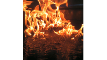 Fire On Water Flame Close Up