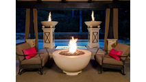 """48"""" Fire Bowl In Outdoor Setting"""