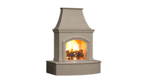Phoenix Unvented Outdoor Gas Fireplace - SHWON WITH (F) - HEARTH And Smoke Finish