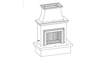 Vented Outdoor Gas Fireplace With Moulding