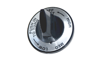 Silver Faced Knob ForNewer Charmglow Grills - LeftSide