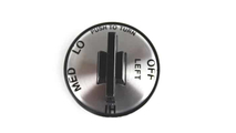 Charmglow C.C. Series Left Side Silver Face Valve Knob