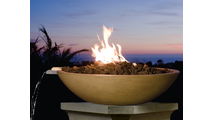 40 inch round Marseille fire and water bowl