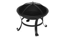 Round Lattice Outdoor Wood Fire Pit 26 Inch Parts