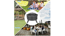 Round Lattice Outdoor Wood Fire Pit 26 Inch Where To Use