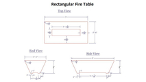 Dimension for the Rectangular Olympus Fire Table