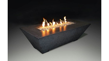 Olympus Rectangular Fire Table In Charcoal Finish