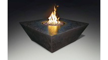 Qlympus Square Firetable In Charcoal Black Finish