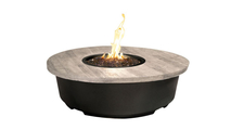 47 Inch Round Contempo Fire Table With Silver Pine Top