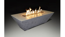 Olympus Rectangular Fire Table In White Finish