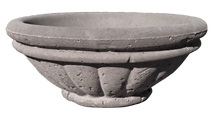 47 Inch Round Milano Concrete Fire Bowl Quote Only shown in Dijon