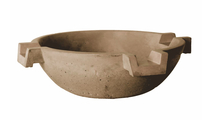 Concrete Triple Scupper Bowl 33 Inch Round - 90 Degree Scuppers